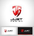 Jg letters design logo vector