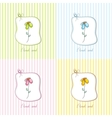 Cute floral gift card vector