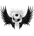 Soccer wings vector