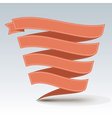 Ribbon banner with shadow vector