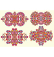 Four ornamental floral adornment vector
