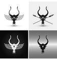 Four bulls vector