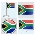 South africa flag - sticker button label vector