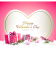 Cute pink valentine day background vector