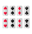 Set of card suits vector
