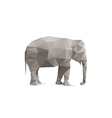 Abstract elephant vector