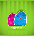 Easter card with two eggs vector