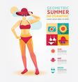 Summer infographic geometric concept design colour vector