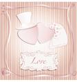 Wedding heart pink vector