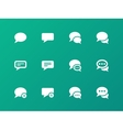 Message bubble icons on green background vector