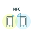 Nfc technology concept vector