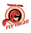 Aviator sticker vector