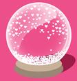 Crystal ball of love vector