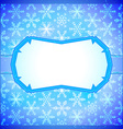 Frozen frame with snowflakes vector
