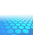 Hexagon tile perspective blue background vector