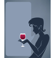 Man drinking a red wine background vector