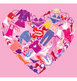 I love shopping image - the heart vector