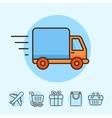 Delivery concept vector