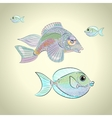 Colorful tropical fish vector