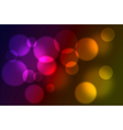Abstract glowing lights vector