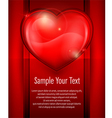 Heart red card 10 v vector