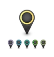 Set of geometric colorful map markers vector