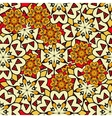 Yellow mandalas seamless background endless vector