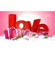 Pink valentine day background vector