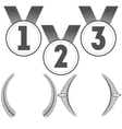 Set of medals and crowns vector