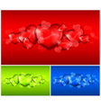 Hearts color background 10 v vector