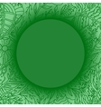 Green background with lacy leaves pattern vector