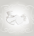 Wedding heart vintage vector