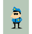 Cartoon plice officer vector