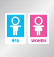 Restroom sign color vector