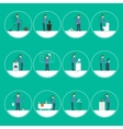 Cleaning people flat vector
