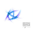 Abstract shapes on white only blue vector