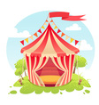 Cute cartoon tent show circus vector