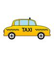 Taxi car icon vector