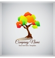 Company business logo with geometric colorful tree vector