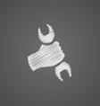 Repair sketch logo doodle icon vector