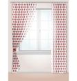 Polka dots curtains vector