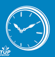 3d round stylized wall clock includes invert vector