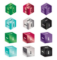 Arrow cubes vector