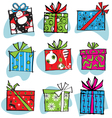 Fun and funky retro christmas gifts vector