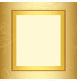 Frame with gold floral pattern vector