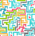 Abstract colored geometric seamless pattern with vector