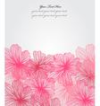 Floral invitation vector