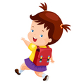 Cute girl back to school vector