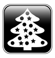 Christmas tree button vector