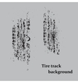 Tire track on gray vector